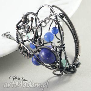 Gwiazdozbiór - bransoletka zainspirowana fantasy, bransoletka, wirewrapping, miedź
