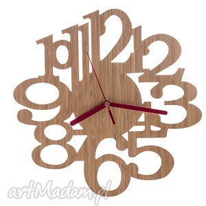 Zegar z drewna bambusowego, naturalny, zegar, drewno, bambus, ścienny