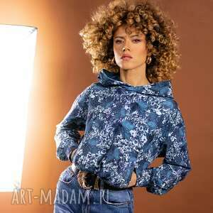 bluza z kapturem - tropical, kapturem, bluza, kolorowa