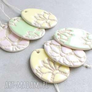 Wielkanocne pisanki, wielkanoc, zawieszka, ceramika, pastele, ozdoby