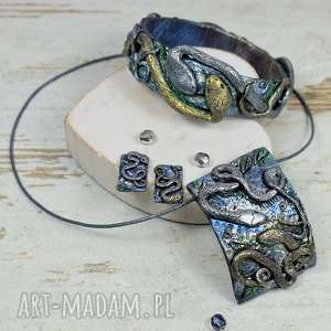 Prezent Komplet biżuterii z motywem węży, biżuteria-węże, wąż, biżuteria-na-prezent
