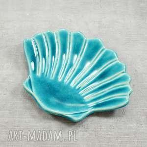 ręczne wykonanie ceramika mydelniczka muszla