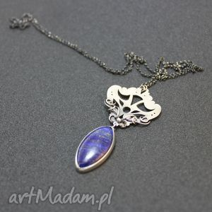 Vivian, lapis, srebro, oksydowany, gwiazdoo