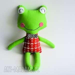 Żabka - wersja s - piotrek - 35 cm - żabka, morze, chłopczyk, zabawka