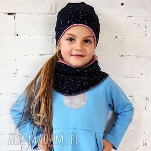 Prezent KOMPLET czapka & komin KOSMOS, czapka, komin, dziecko, zima, komplet, prezent