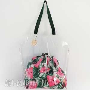 torba xl transparentna - ,torba,torebka,plażowa,transparentna,wodoodporna,lato,