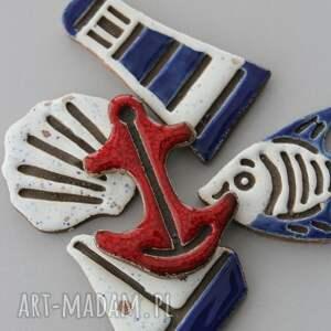 marynistyczne magnesy ceramiczne, żeglarz, minimalizm, design, marynarz