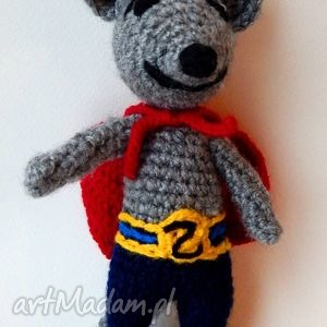 handmade maskotki mysz superbochater