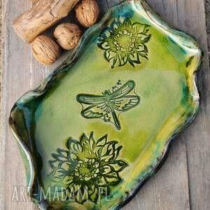 ręcznie wykonane ceramika patera ceramiczna (c158)