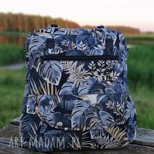 torebki niezwykle torebka listonoszka - monstery czarno-złote, elegancka