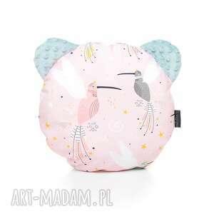 ręczne wykonanie dla dziecka poduszka podusia miś kolibry / szałwia