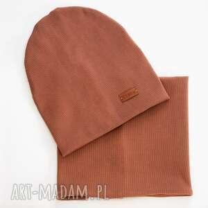 dla dziecka czapka i komin karmel libou, komin, one size, uniwersalny