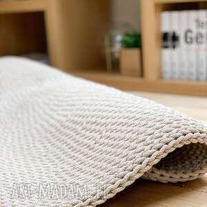 dywan camel 110 cm, tekstylia, dywan, ze sznurka, dekoracja podłogi, ręcznie