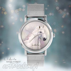 pomysł na świąteczny prezent Zegarek, bransoletka - Biały koń Magic Forest, zegarek