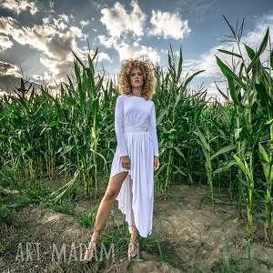 ręcznie robione sukienki cristina patria maxi white