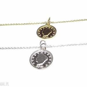 delikatna bransoletka z monetą, moneta, coin, charms, celebrytka, łańcuszek, złoto