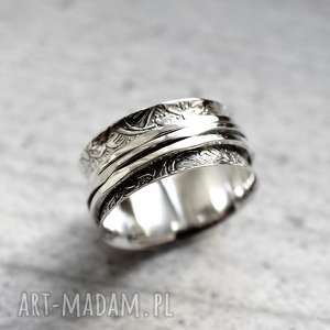 925 Srebrny pierścionek MEDYTACJA, kamień, srebro, srebrny, 925, kobiecy, modny