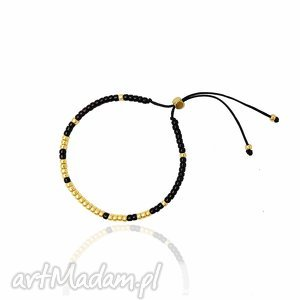 handmade bransoletka minimal - black and gold