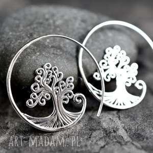 925 Srebrne kolczyki Drzewo życia spirale - ,drzewo,życia,srebro,925,eleganckie,kobiece,