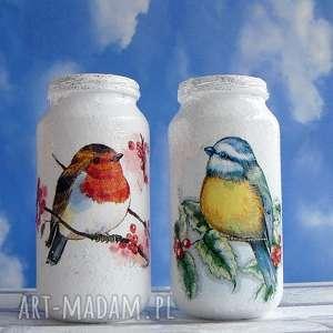 dekoracja komplet dwóch szklanych słoiczków z kolekcji - święta