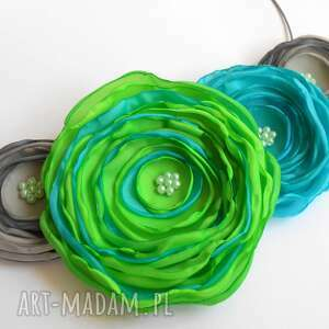 hand-made naszyjniki kwiatowa kolia