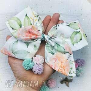 oryginalny prezent, liliraj pastelowy ogród, kokarda, spinka, dziewczynka