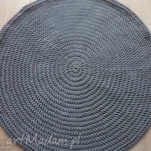 okrągły dywan ze sznurka 100 cm w kolorze szarym, dywan, chodnik, szary, sznurek