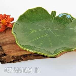 patera ceramiczna talerz dekoracyjny - liść, ceramika, patera, talerz, liść