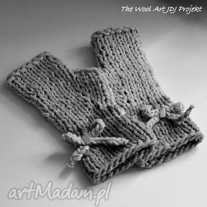 rękawiczki mitenki - rękawiczki, mitenki, dodatki, prezent, szare