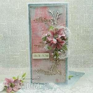 scrapbooking kartki serdeczne życzenia vol 3, kartka imieniny, ślubna