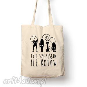 torba - tyle szczęścia, torba, bawełna, eco, prezent, kot na zakupy torebki