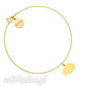 złota bransoletka z jeżem, bransoletka, jeż, jezyk, animals, złota, łancuszkowa