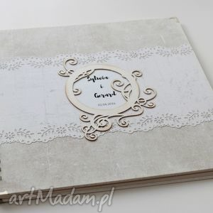 album na ślub - białe scrapbooking albumy, podziękowania