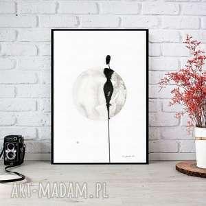 ręcznie malowany, abstrakcja, minimalizm, abstrakcja czarno-biała, ilustracja, A4