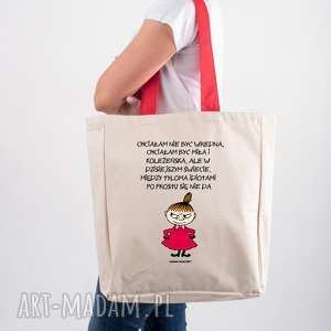 handmade licencjonowana torba xxl muminki z czerwonym uchem chciałam nie być wredna