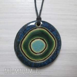 wisiorki unikatowy wisiorek ceramiczny, wisior, kolorowy, etniczny