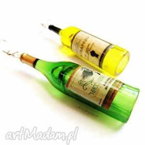 wyjątkowe prezenty, kolczyki dwa winka, kolczyki, butelki, wino, wina