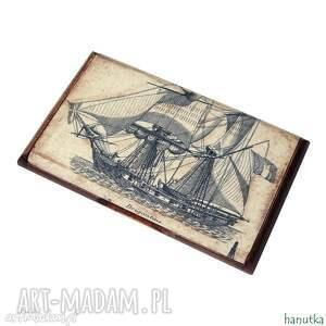 żeglarz - wizytownik, etui na karty płatnicze, prezent, męski, stylowy