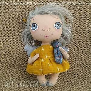 pokoik dziecka aniołek lalka - dekoracja tekstylna, ooak, aniołek