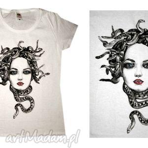 Medusa, tshirt, koszulka, handpainted, ręcznie, malowana