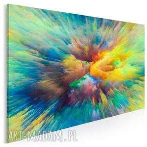 obraz na płótnie - kolory abstrakcja sztuka 120x80 cm 83201