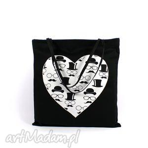 torba codzienna zakupówka 38, zakupy, siatka, torba, serce, ecobag