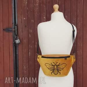 nerki nerka xxl pszczoła, nerka, oversize, haft, musztardowa, wyjątkowy
