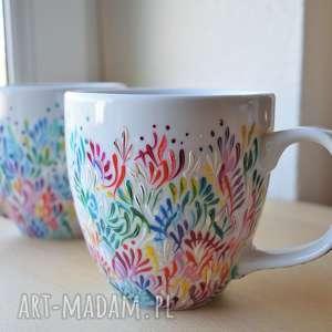 Kubki dla pary prezent ślubny ręcznie malowane ciepliki