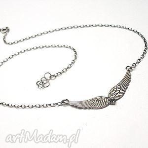 Glam rock - naszyjnik naszyjniki katia i krokodyl srebro