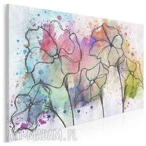 vaku dsgn obraz na płótnie - kwiaty akwarele 120x80 cm 66801