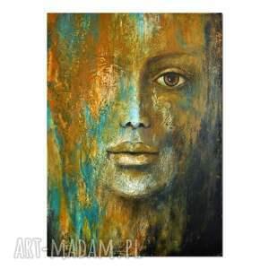 gaia, postać, kobieta, oryginalny obraz ręcznie malowany, obraz