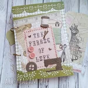 Prezent Stylowy notatnik/ Szczęście jest domowej roboty:), notes, szkicownik, kobiecy