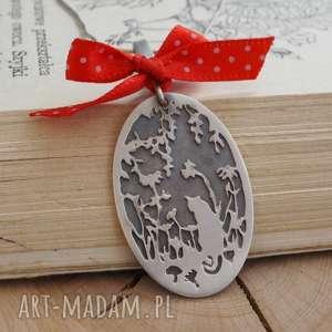 Prezent Kocia srebrna zawieszka, srebro, kot, romantyczna,