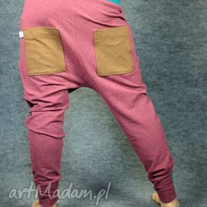 spodnie peggy - yoga, taniec, ciążowe, zumba, dres, jogging, wygone, obniżony, krok